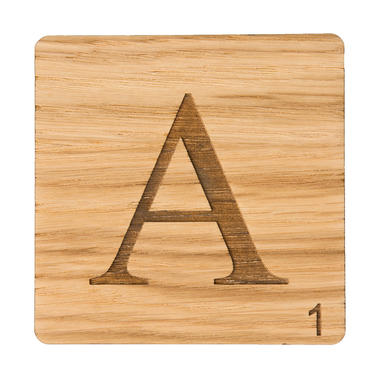 A-Z Scrabble Coasters