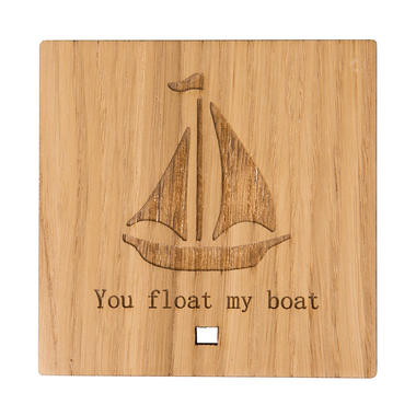"""""""You Float My Boat"""" Wooden Ornament"""