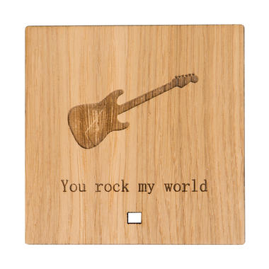 """""""You Rock My World"""" Wooden Ornament"""