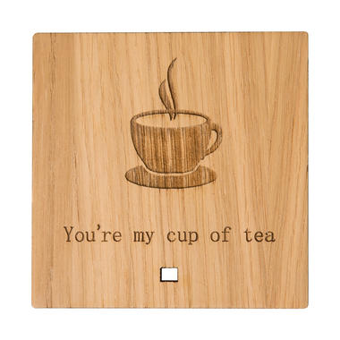 """""""You're My Cup of Tea"""" Wooden Ornament"""