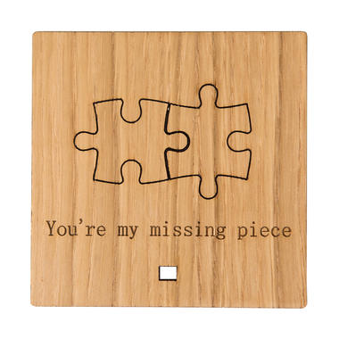 """""""You're My Missing Piece"""" Wooden Ornament"""