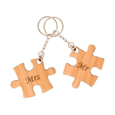 Mr & Mrs Jigsaw Keyring Duo
